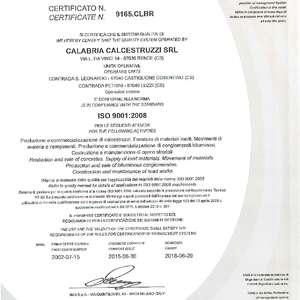 Certificazioni qualità nuovo