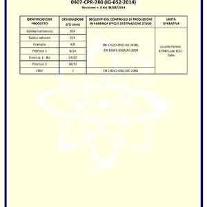 Certificazione inerti