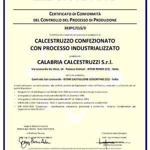 Certificazione Calcestruzzo